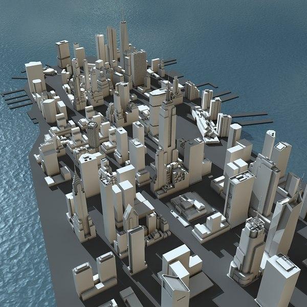 3d manhattan city