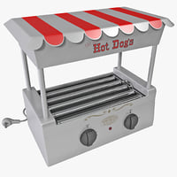 3d old fashioned hot dog model