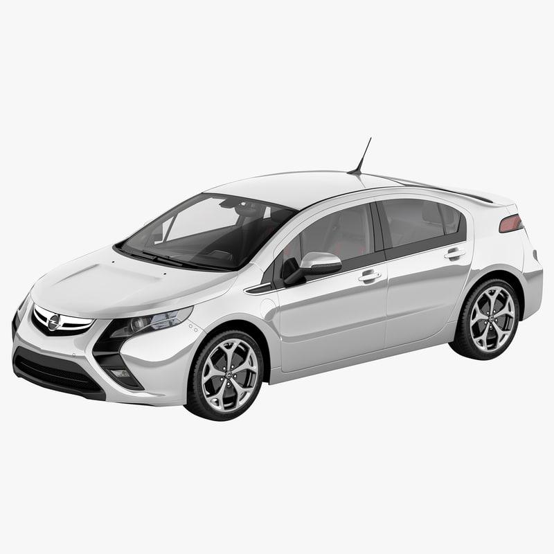 3d Model Opel Ampera 2012