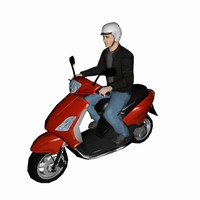 scooter motorcycle 3d max