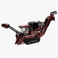 sugar cane harvester case 3d model