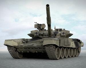 3d model of t90s russian tanks t-90