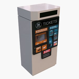 ticket vending machine 3d model