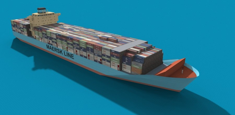 maersk batam 3d model