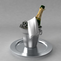 champagne bucket ice 3d model