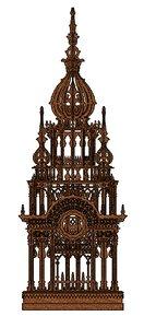 3d clock tower model