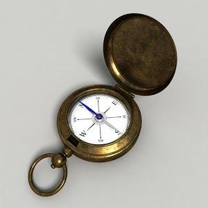 gold compass obj