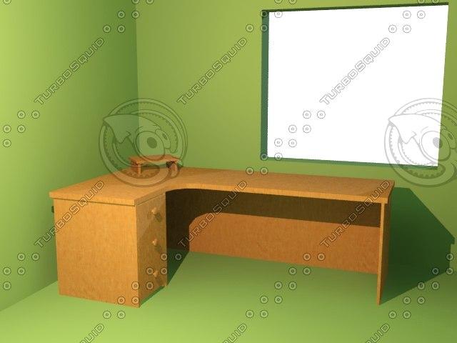 3d 3ds computer desk