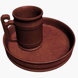 wooden beer mug obj