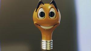 cartoon bulb 3d model