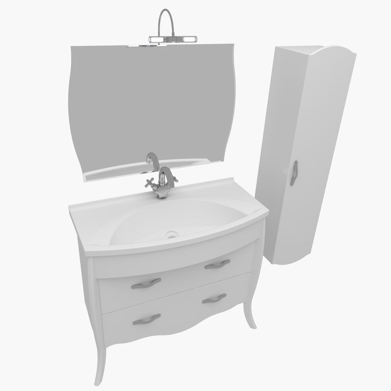 3d model bathroom furniture house home
