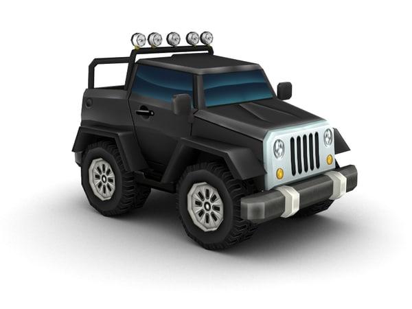 3d model jeep car