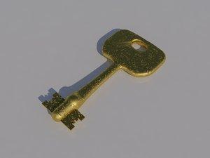 3d old-ed golden key model