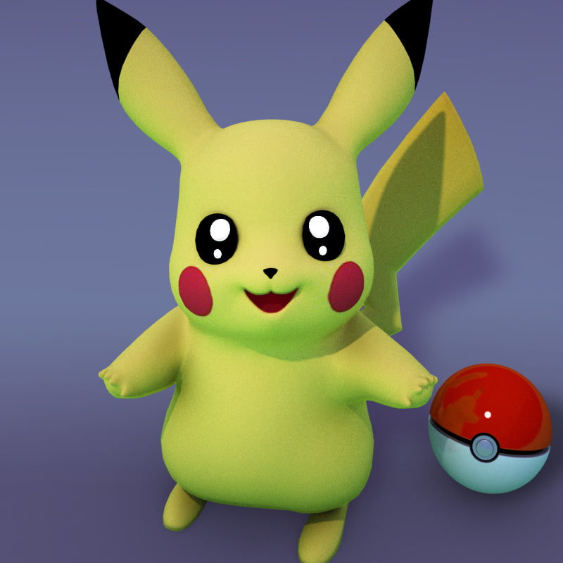 3d pikachu cartoons model