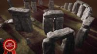 stonehenge representation 3d 3ds