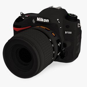 nikon d7000 dslr camera 3d model