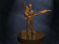 Sven Dota 2 model for 3D printing