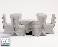 wedding table chairs 3d 3ds