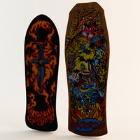 3d model classic skateboards