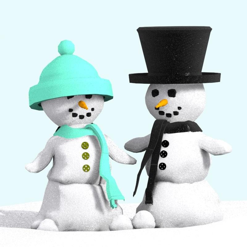 max snow man snowman
