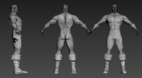 superhero body 3d model