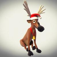 3d reindeer xmas decoration