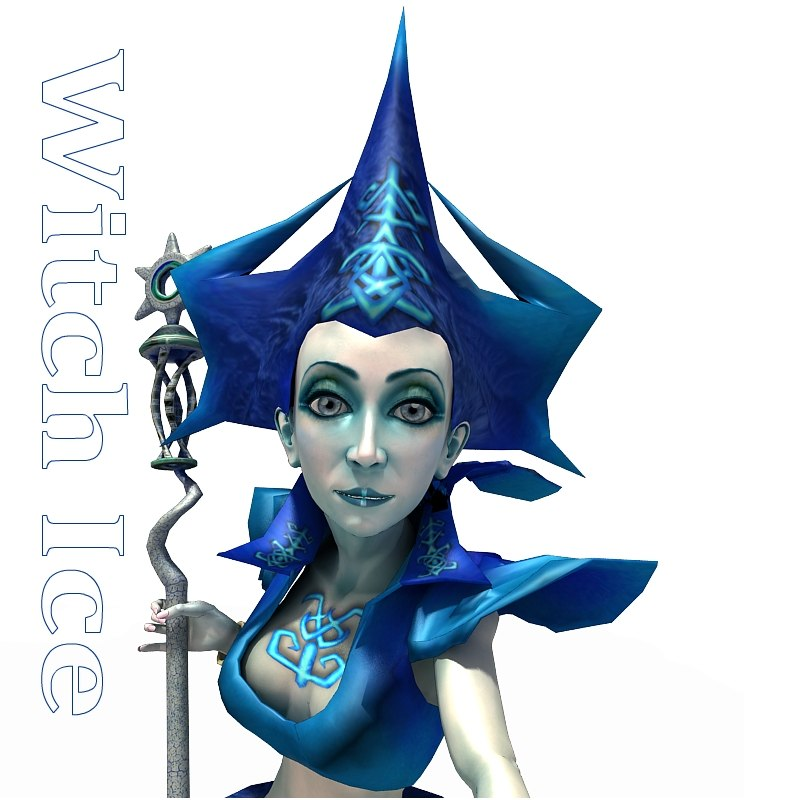 character witch ice 3d c4d