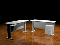 table office 3d 3ds