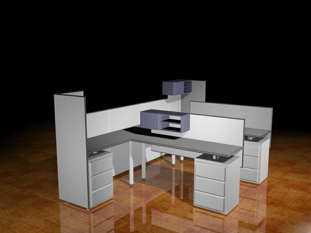 office desk 3ds