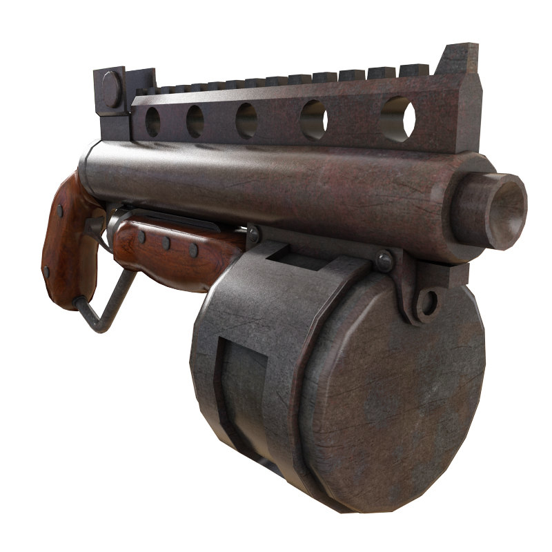 steam punk shotgun 3d max