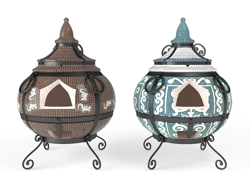 3d model of eastern barbecue stove