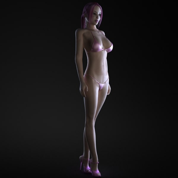 3d fitness girl rigging female body