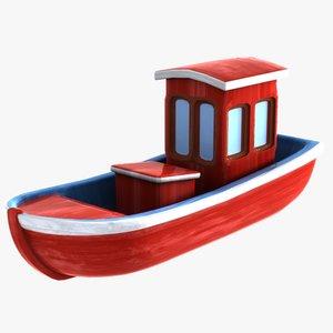 cartoon boat toon 3d max