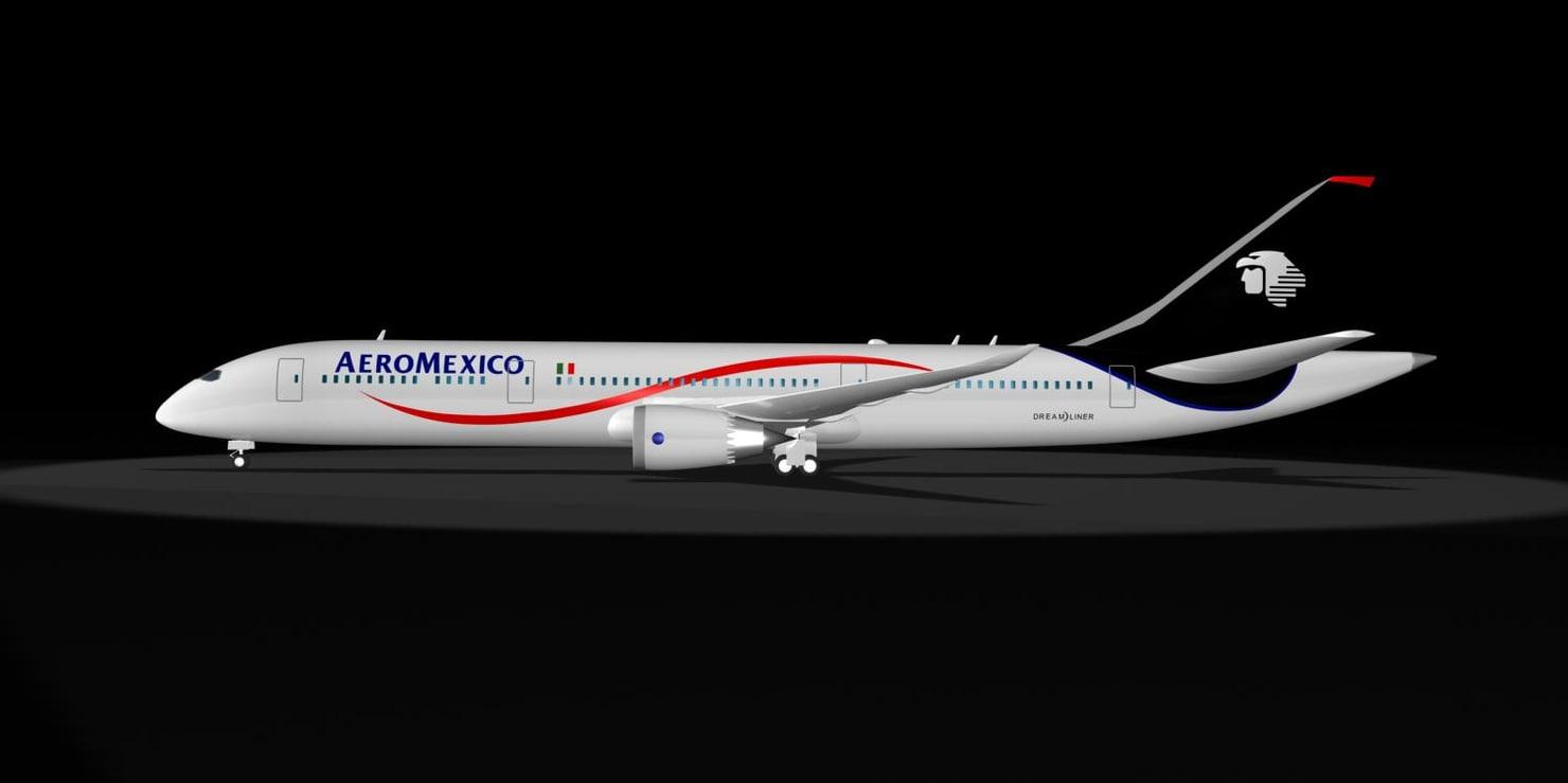 max aeromexico 787 dream liner