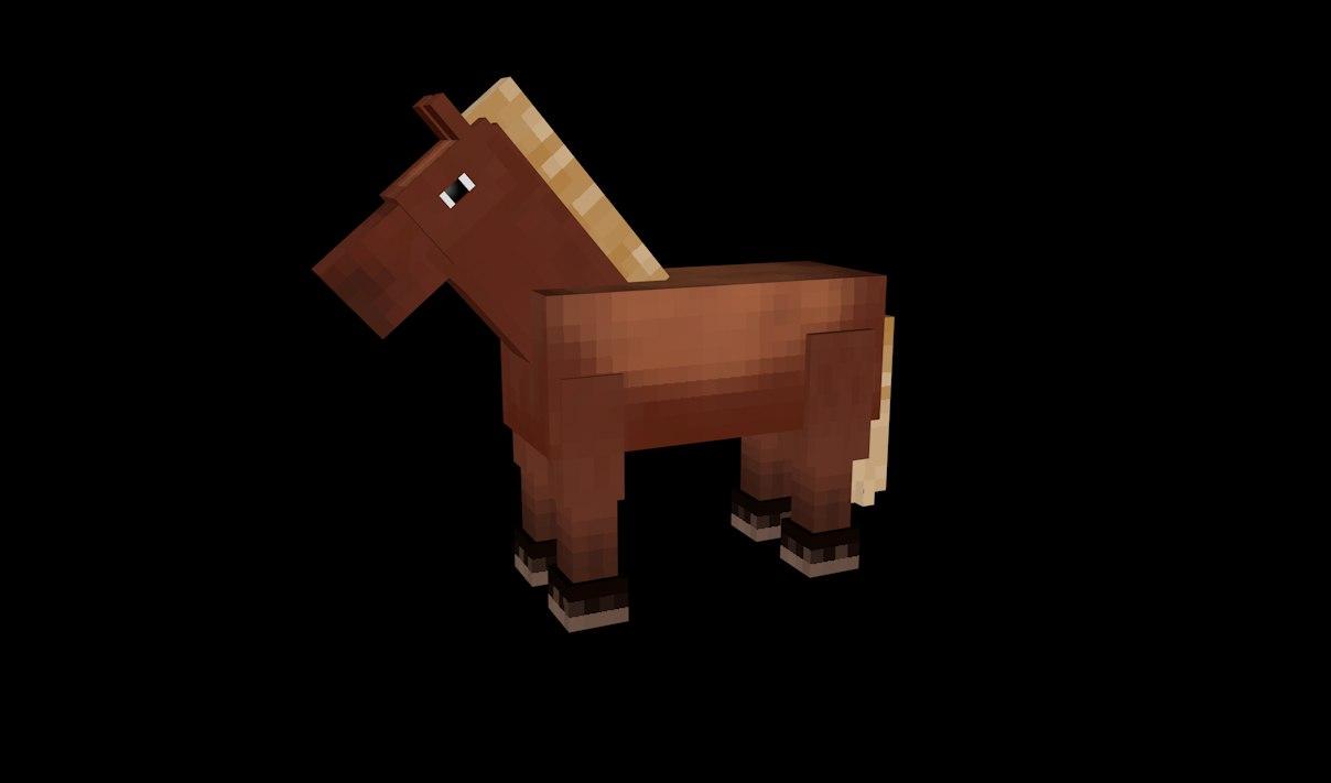 horse rig 3d c4d
