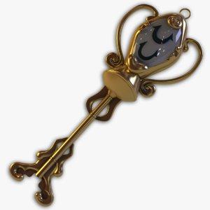 3d fairy aquarius golden key
