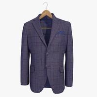Blue Blazer Jacket On A Hanger