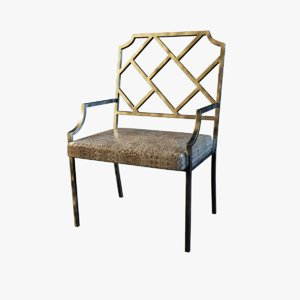 chippendale chrome dining chair max