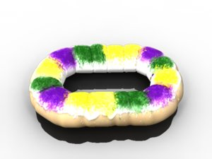 3ds max king cake