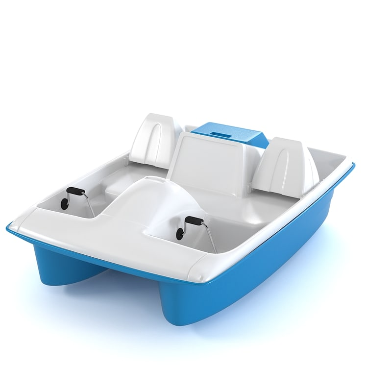 3ds max pedal boat