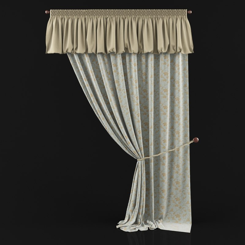 curtains pelmet 3d max