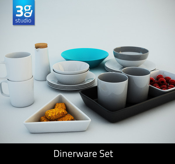 3d dinnerware set