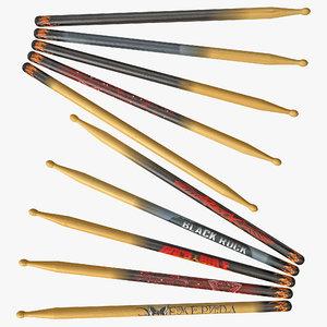 drum sticks 3ds