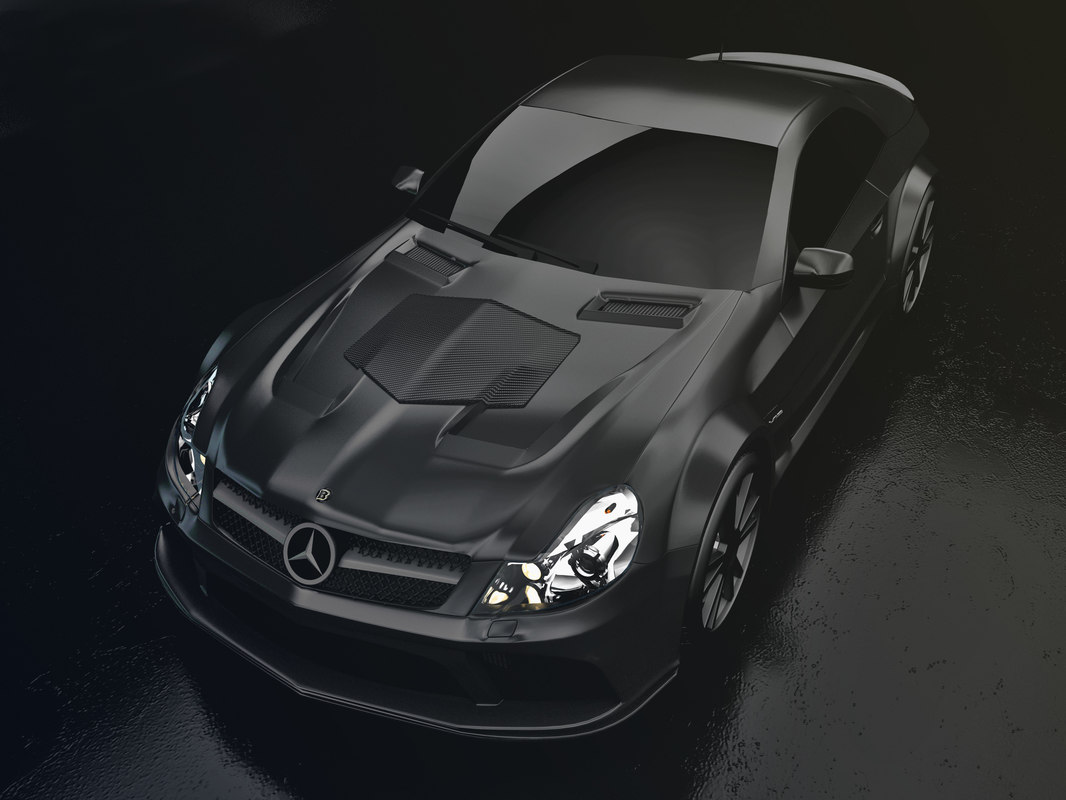 mercedes benz sl65 amg 3d model