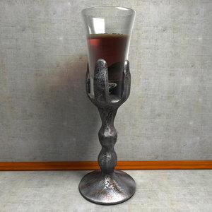 3d model goblet glass