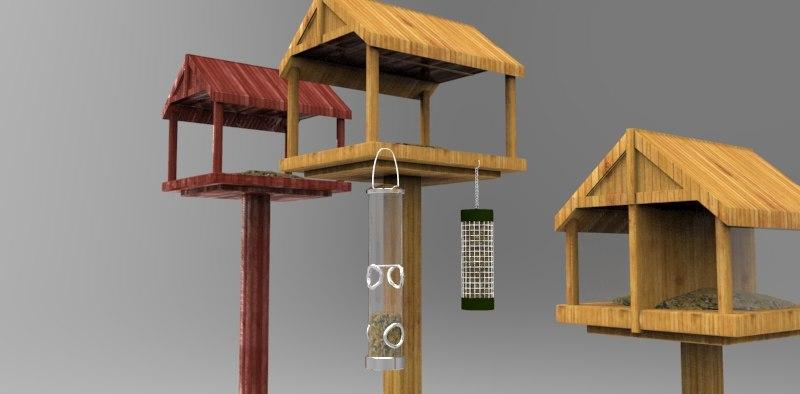 bird feeders 3d ma