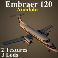 3d model embraer emb 120