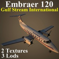 3d embraer emb 120 gft model