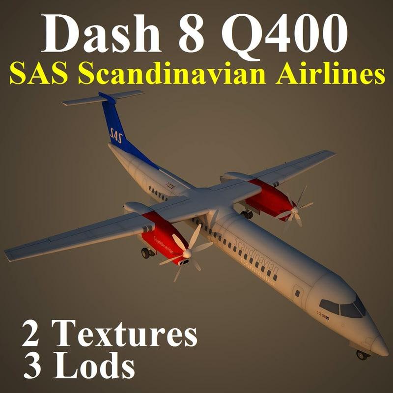 3d bombardier dash 8 q400