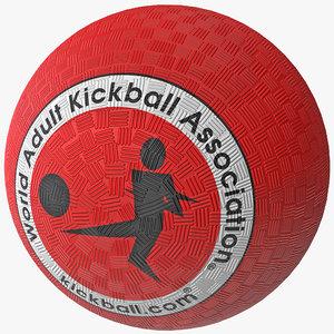 kickball ball kick 3d lwo